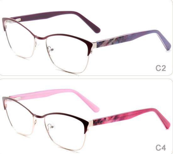 f745df99f9d 2018 Online Ready Stock Top Selling New Model Colorful Flexible Popular  Stainless Steel Metal Eyewear Optical Eyeglasses Frames Glasses for Women