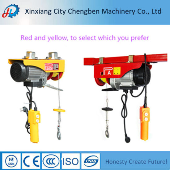 China PA Mini Electric Wire Rope Hoist 500kg Electric Winch - China ...