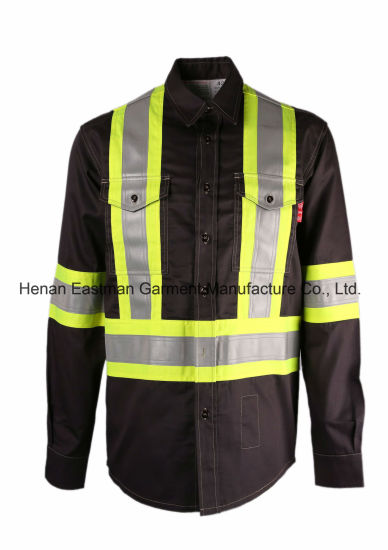 967602badfc UL Certificate Hi Vis Long Sleeve Flame Resistant Shirt Fire Proof Work  Shirt