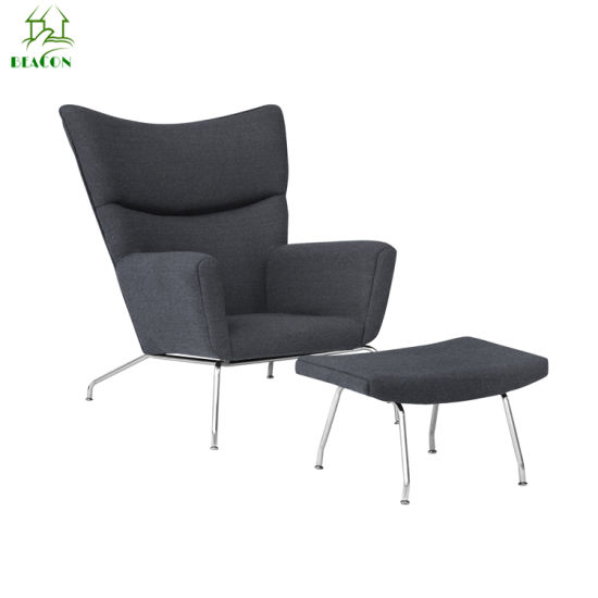 Hot Sale Wing Back Chairs with Ottoman Iron Butterfly Chair for Home Used