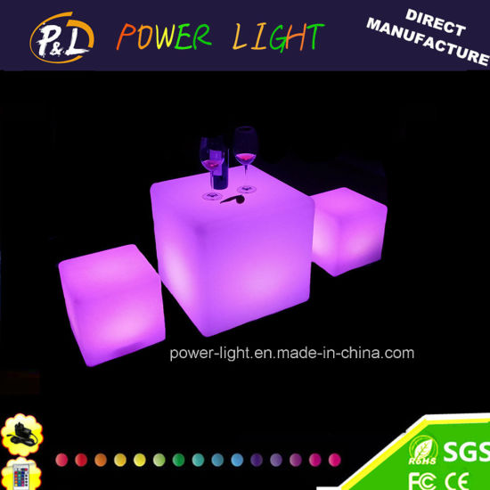 Garden Furniture Glowing LED Solar Cube