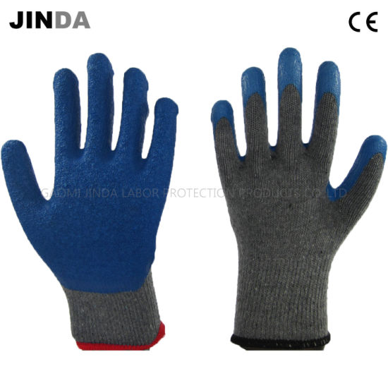 Latex Coated Labor Protective Industrial Safety Work Gloves (LS001)