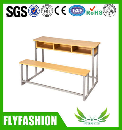 Cheap Price Primary School Desk and Bench for 3 Persons Sf-39d