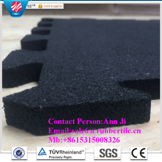 30mm Recycle Rubber Flooring Tiles Gym Rubber Mat Playground Rubber Flooring pictures & photos