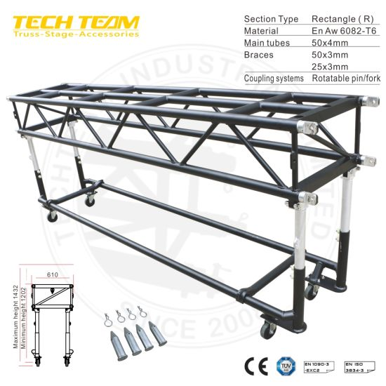 Whole Aluminum Touring Pre Rig Lighting Truss With Wheels
