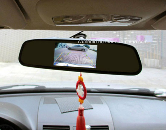 4.3inch Clip on Car Rear View Mirror with Digital Screen LCD pictures & photos