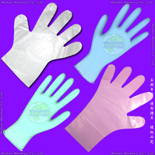 Plastic/Poly/CPE/HDPE/LDPE/PVC/Vinyl/Exam/Stretchable TPE Elastic/Clear/Surgical/Medical/Examination Disposable PE Glove for Food Processing Industry Service