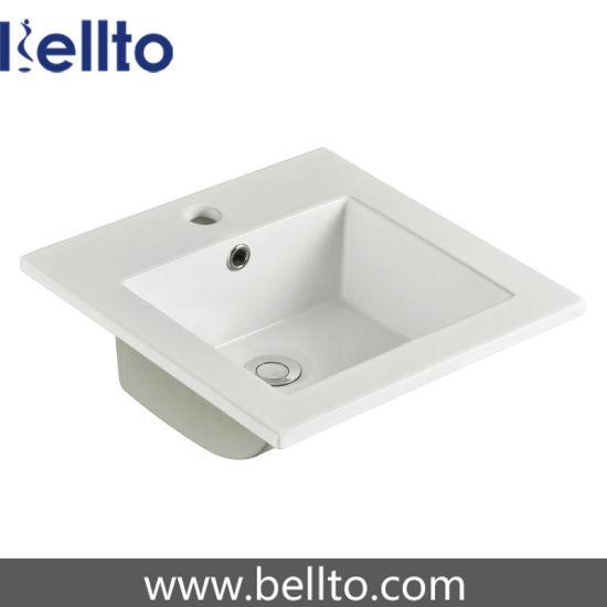 Thin Edge Bathroom Drop in Wash Sink with Overflow (6034)