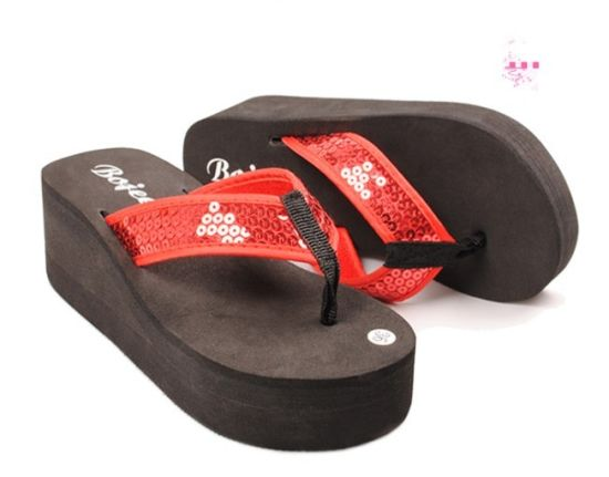 Lady Soft EVA Footwear Design Slipper in High Heel pictures & photos