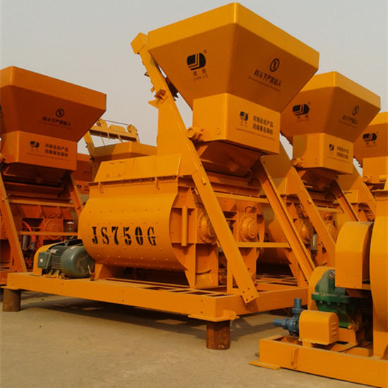 Twin Shaft Compulsory Concrete Mixer (JS750II) pictures & photos