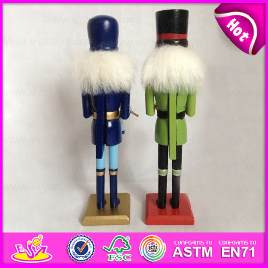 2015 promotion gift play nutcracker toy wooden nutcracker soldier toy wooden soldier nutcracker for christmas decoration w02a079