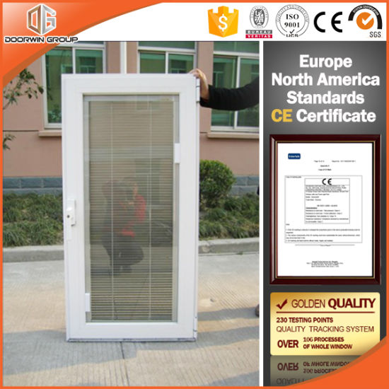 Anodizing Thermal Break Aluminum Casement Window Tempered Glass
