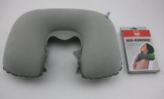 Wholesale U-Shape Inflatable Travel Neck Pillow pictures & photos