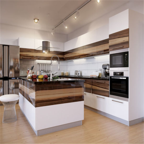 China Manufacture Custom Modular Modern Kitchen Cabinets for North America Market
