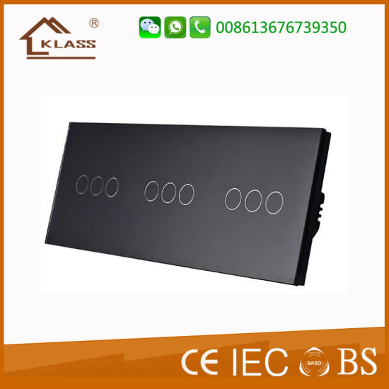 Remote Control Switch Touch Glass Panel Wall Light Electrical Switch pictures & photos