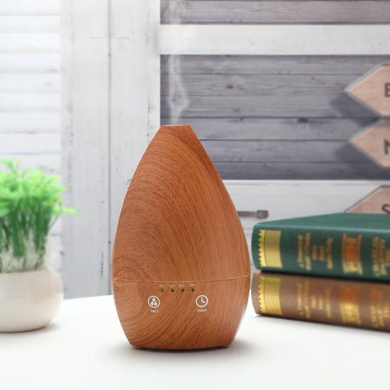 Home Decoration Wood Grain 200ml Wholesale Black Aroma Diffuser pictures & photos