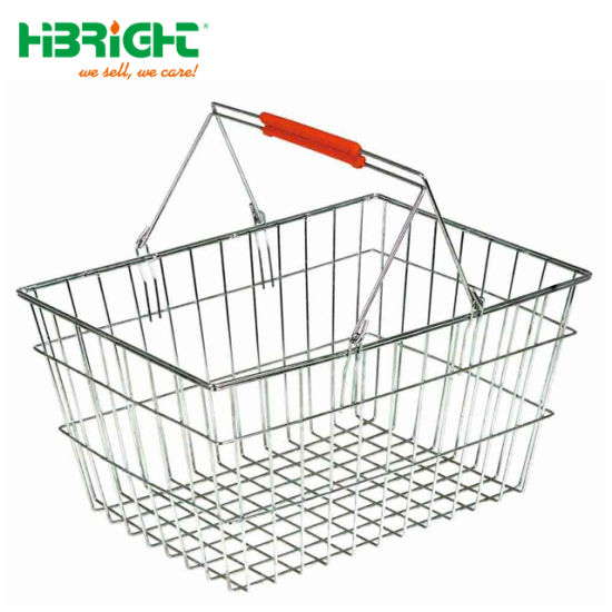 China Double Handles Metal Wire with Chrome Plating Shopping