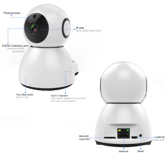 China Amazon Cloud Storage 1080P Onvif Wireless IP Security Camera