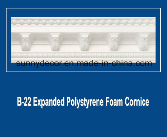 EPS Foam Cornice B-22 Expanded Polystyrene Foam Decorative Ceiling