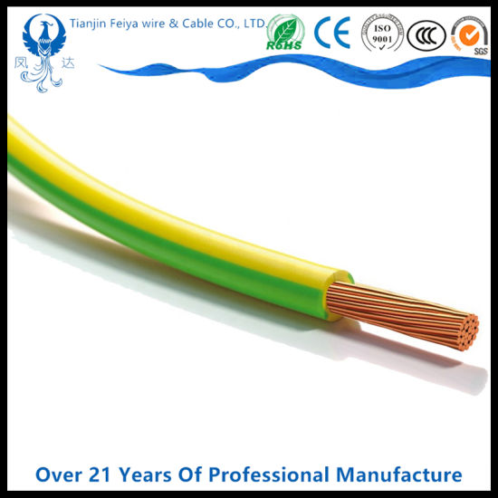 Earth Wire House Wire Building Wire 4mm2 Yellow and Green Copper PVC Electric Cable pictures & photos