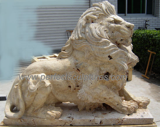 Lot of 2 Lion Wall Decor Antique Sandstone Wild Cat Sculpture