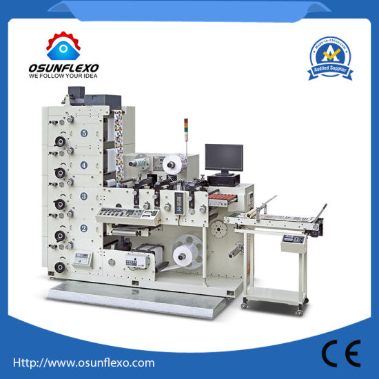Mulicolors Flexographic Printing Machine Flexo Labels&Stickers Printing Press Flexo Printing Machinery with Rotary Die Cutting Station and Sheeting Station