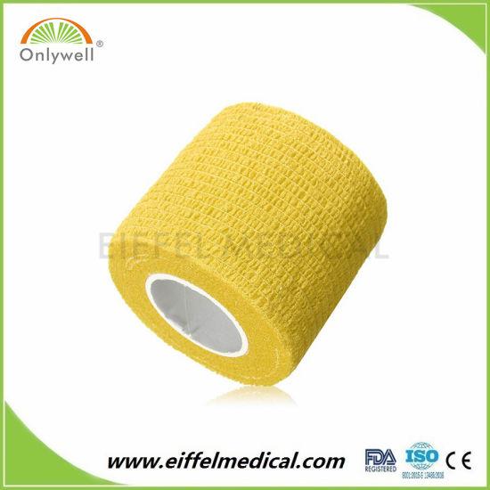 High Quality Best Price Elastic Sport Outdoor Gauze Cohesive Bandage