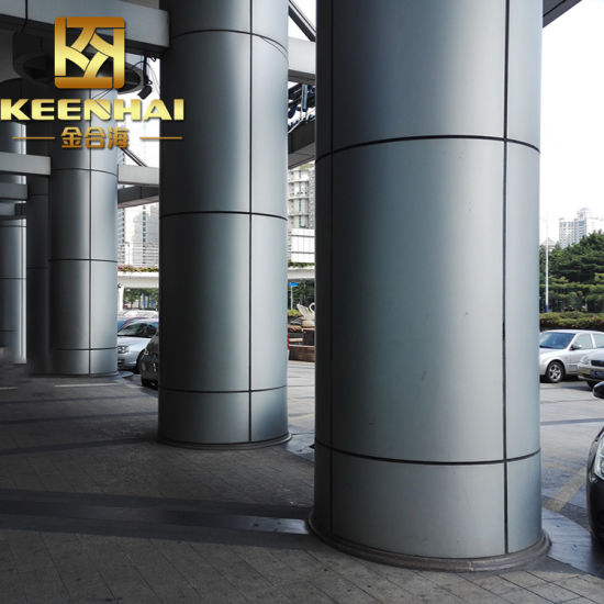 Aluminium Column Cladding : China decorative metal constructual building post cladding