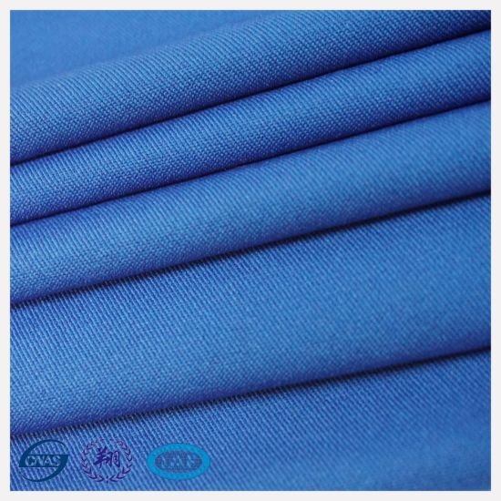 90%Polyester and 10%Spandex Blue Polyester Twill pictures & photos