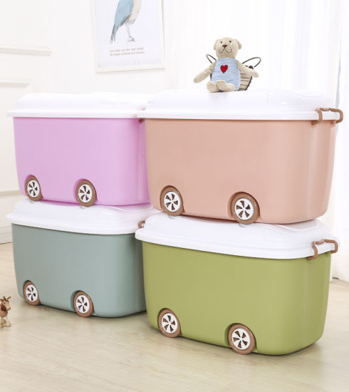 New Design Household Cartoon Plastic Storage Container with Lid