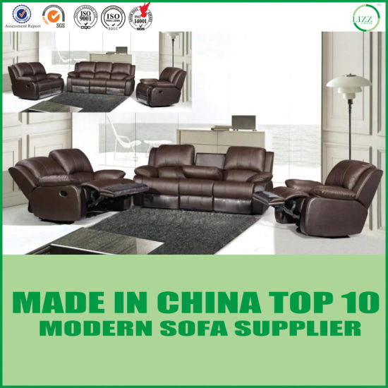 Modern Brown Leather Recliner Sofa Home Theatre Furniture