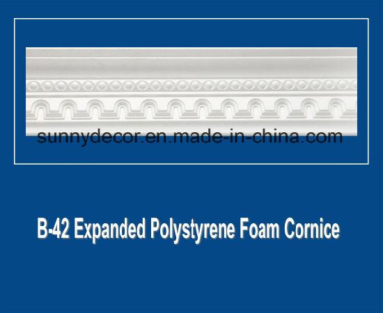 EPS Foam Cornice B-42 Expanded Polystyrene Foam Decorative Ceiling