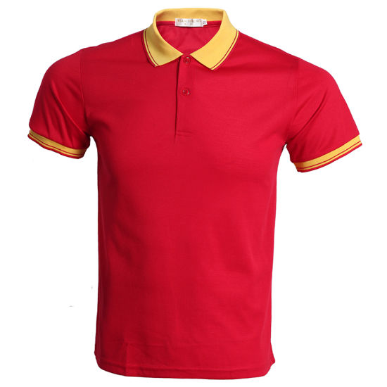 Factory Customized Advertising Men′s High Quality Plain Polo Shirts with Logo pictures & photos