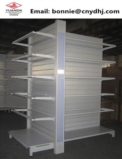 Wholesale Plain Back Metal Gondola Supermarket Shelves Display Racks