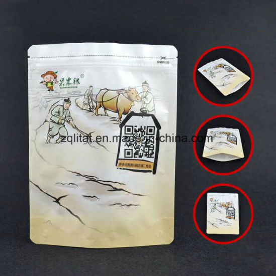 Colored Printed Aluminum Foil Plastic Packaging Bag Zipper Bag Stand up Pouch pictures & photos