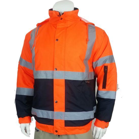 Factory Wholesales Apparel High Quality Reflective Clothing Raincoat Safety Workwear Jacket