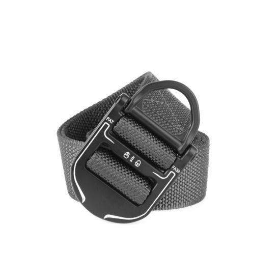 3.8cm Quick-Drying Men's Belt Zinc Alloy Buckle Outdoor Training Belt