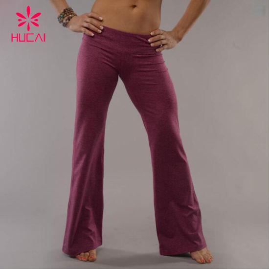 Customization Ladies Bell-Bottom Dance Yoga Pants