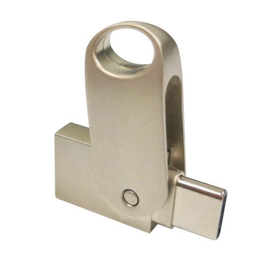 High Quality Design Metal Swivel OTG USB 8GB 16GB 32GB 64GB USB Flash Drives for Smartphone (UL-OTGP036)