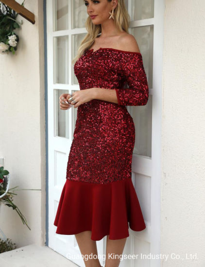 China Amazon Wholesale New Design Beautiful Apparel Lady Fashion Clothes Wedding Gown Elegant Evening Sexy Dress Party Red Color Bright Cocktail Pencil Woman Dresses China Dresses And Beautiful Dresses Price,Miami Wedding Dress