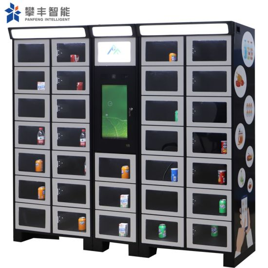 Combo Smart Self Service Coin Operated Fresh Vegetables Vending Machine with Kiosk