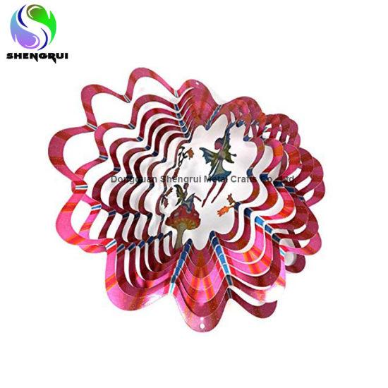 Custom Stainless Steel Wind Spinner Garden Decoration 3D Melody Wind Spinner