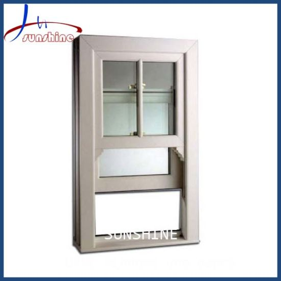 UPVC Single Hung Windows with Customized Color and Glass