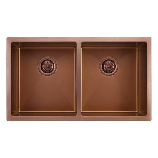 China R10 Corner Handmade Stainless Steel Kitchen Sink China