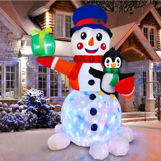 6FT Christmas Inflatable LED Light up Snowman Yard Decoration