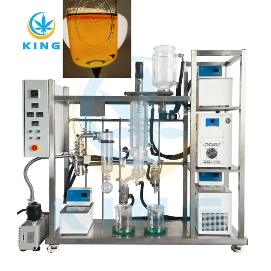 Laboratory High Efficiency Wiped Film/ Short Path/ Molecular Distillation Extraction for Essential Cannabis Oil Distillate Cbd Purification