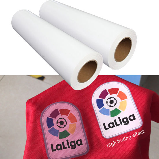 High Quality Printable PU PVC Anti Sublimation Heat Transfer Vinyl Htv Film Roll for Textile Garment Logo