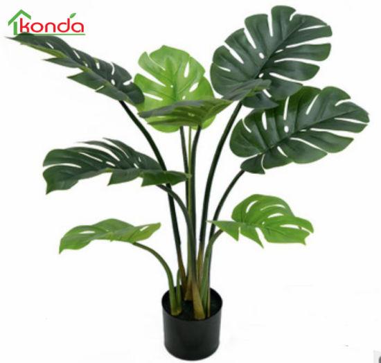 Best Sale Artificial Monstera Variegata Simulation Bonsai Plants