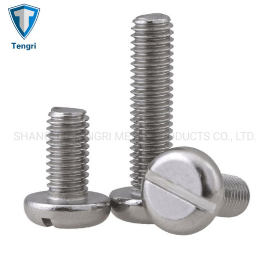 Metric 5mm M5 304 Stainless Steel Slotted Pan Round Head Screws Bolt
