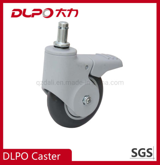 Dlpo Private Patent 75mm Medical PU Wheel Castor with M11*38 Solid Stem